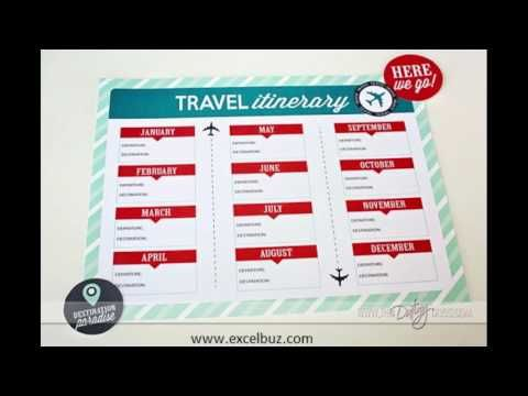 Useful Business Itinerary Templates Travel, Vacation, Trip, Flight - travel invoices