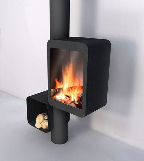 Modern Streamlined Wood Stove Puts The Focus On The Fire