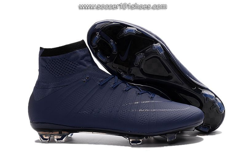 dfa1c054467 Nike Men s Mercurial Superfly FG Hi Top Football Boot Soccer Cleat Navy  Blue  77.00