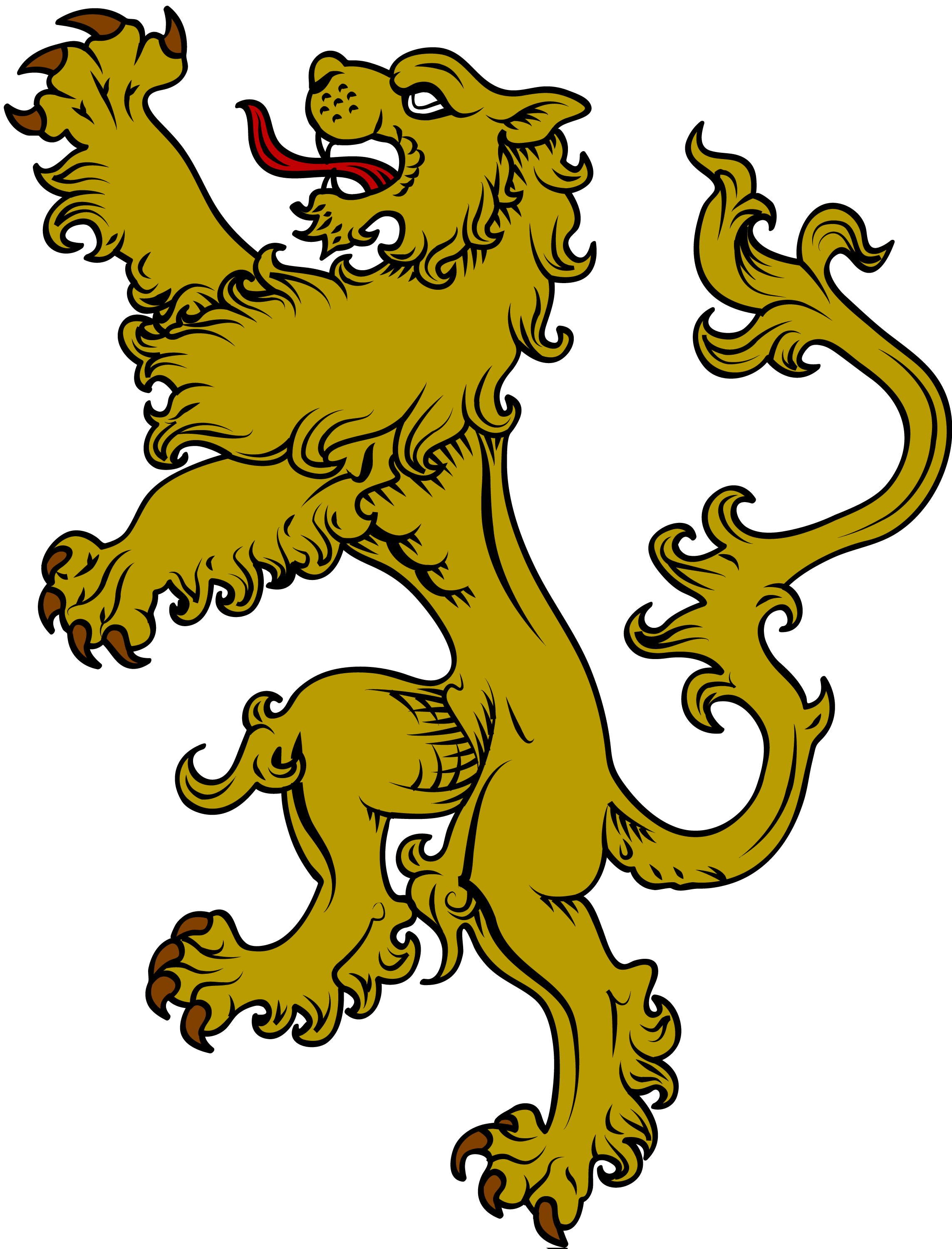 The symbol of a lion is very common in heraldry and is used most ...