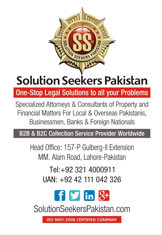 One Stop Solutions In Budget: Solution Seekers Pakistan One-Stop Legal Solutions To All