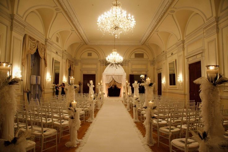 Slanted Chairs Indoor Wedding Ceremonies Indoor Wedding Castle