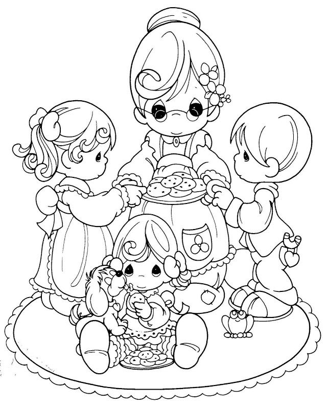 Grandma Precious Moments Coloring Pages Precious Moments
