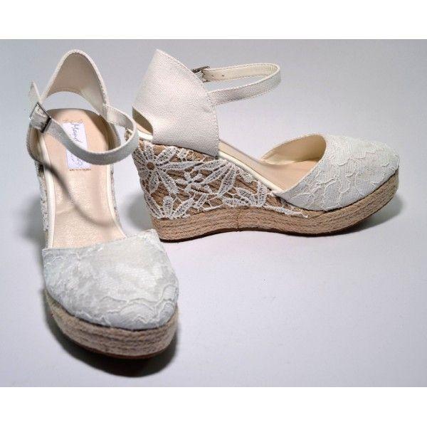 Espardeñas de cuña para novia :: Virtual Novia Book | Zapatos novia ...