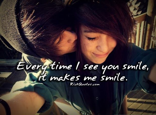 Emo Love Quotes Every Time I See You Smile