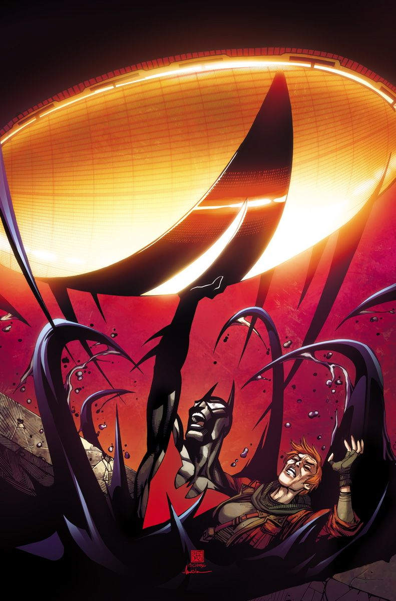 BATMAN BEYOND #3 Written by DAN JURGENS Art and cover by BERNARD CHANG 1:25 Variant cover by CARLO PAGULAYAN On sale AUGUST 5 • 32 pg, FC, $2.99 US • RATED T Retailers: This issue will ship with two covers. Please see the order form for details. The world starts to give up on its new Batman as the secret of the cyborg Justice League is revealed. Plus, Brother Eye takes both a giant leap and one small step toward bringing down the final stronghold of humanity: Neo-Gotham.