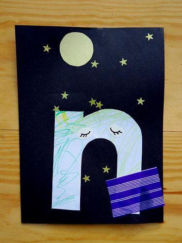 Art Abcs Letter A Crafts Letter N Crafts Preschool Letter Crafts