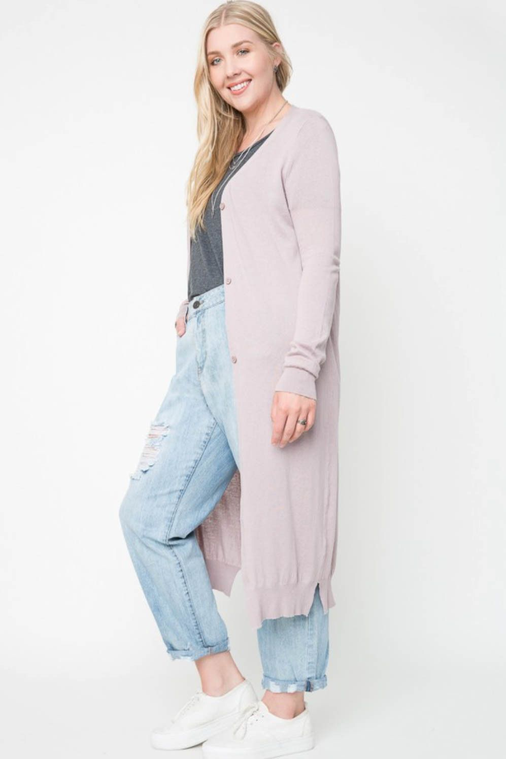 Maxi Cardigan with Button Down Front