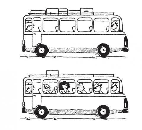 Dibujos de autobuses para colorear por los niños | Medios y ...