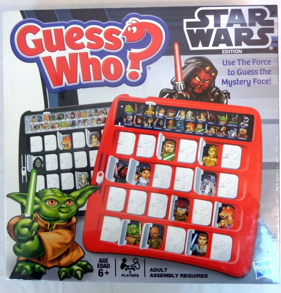 Guess Who Star Wars Edition Mystery Face 6+ Hasbro 2012