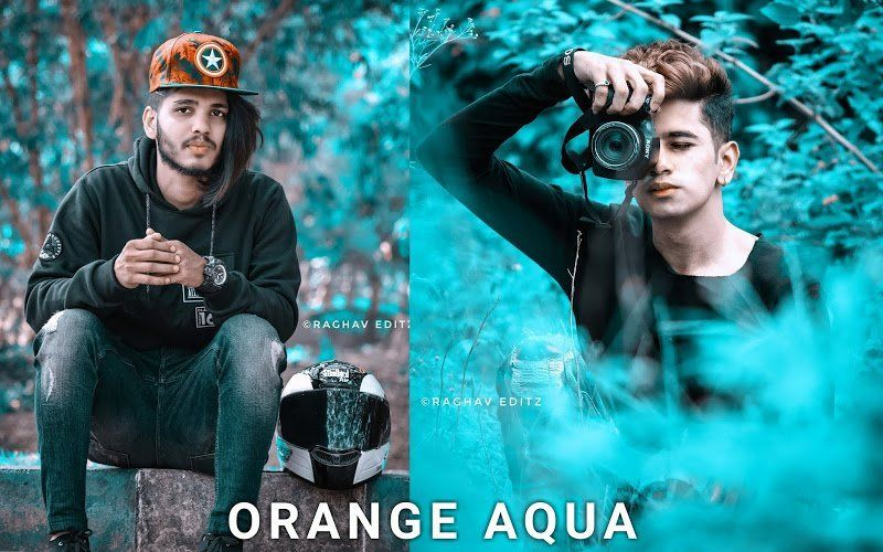 Preset Lightroom Orange Aqua
