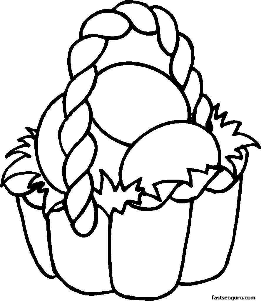 easter basket coloring pages for kids printable coloring - Free Printable Coloring Pages