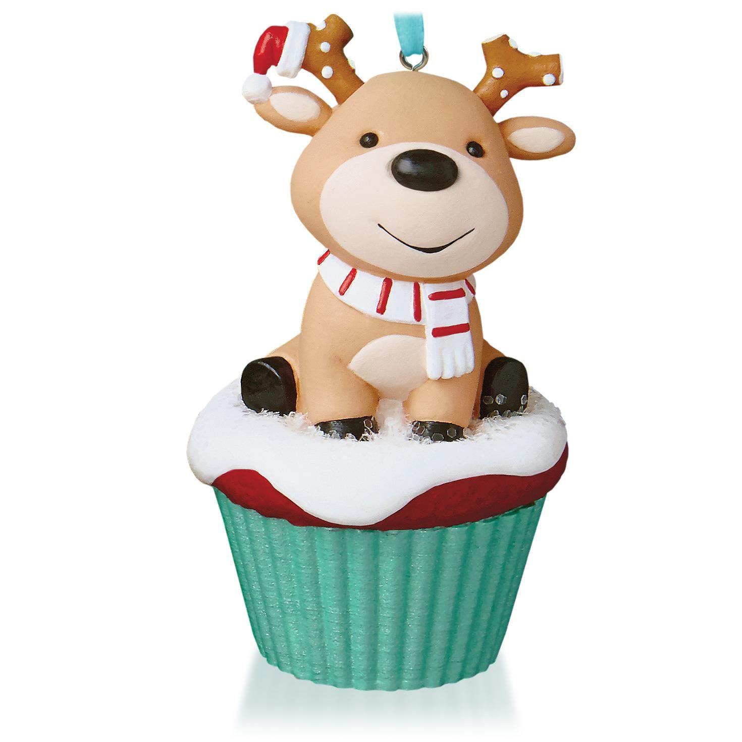 Salty and Sweet Reindeer Keepsake Cupcake Ornament