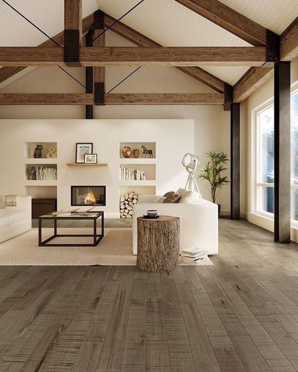 46 Stunning Rustic Living Room Design Ideas: Beautiful Modern Farmhouse Living Room Decor Ideas 32