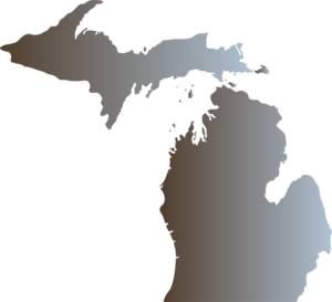 Michigan Outline With Great Lakes Clip Art Outline Art Michigan Outline Clip Art
