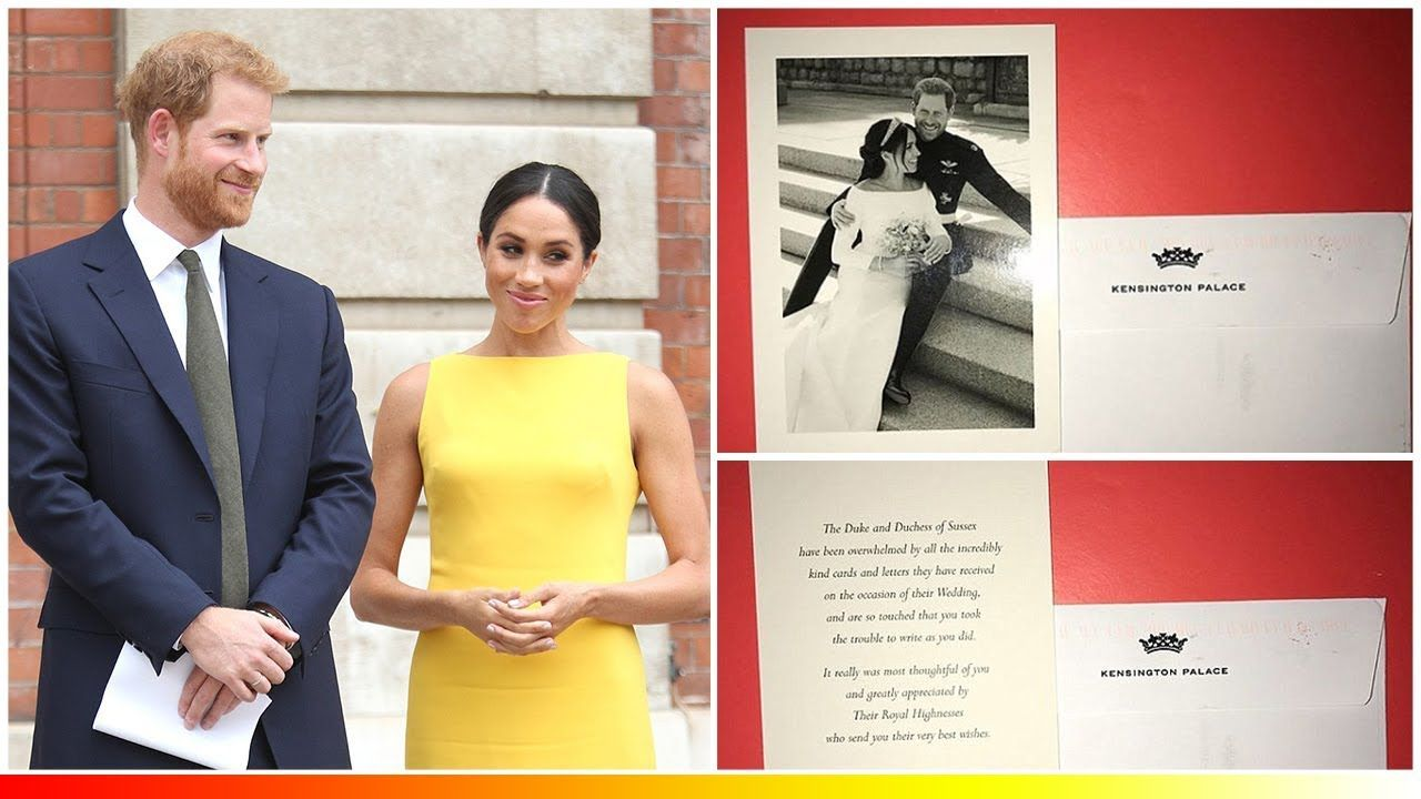 Meghan Markle Harry Send Thank You Card Of Royal Wedding After