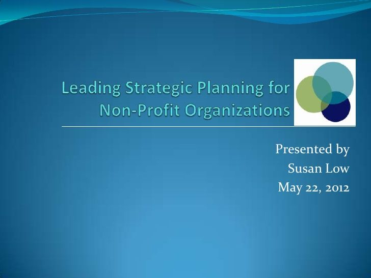 PPT presentation on Strategic Planning for NFPs (Not for