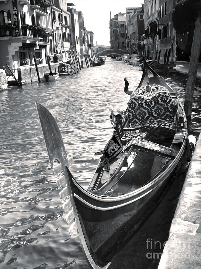 Gondola black and white photograph gondola black and white fine art print