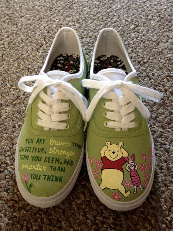 880631fda648 Winnie The Pooh Inspired Shoes by HandPainted29 on Etsy