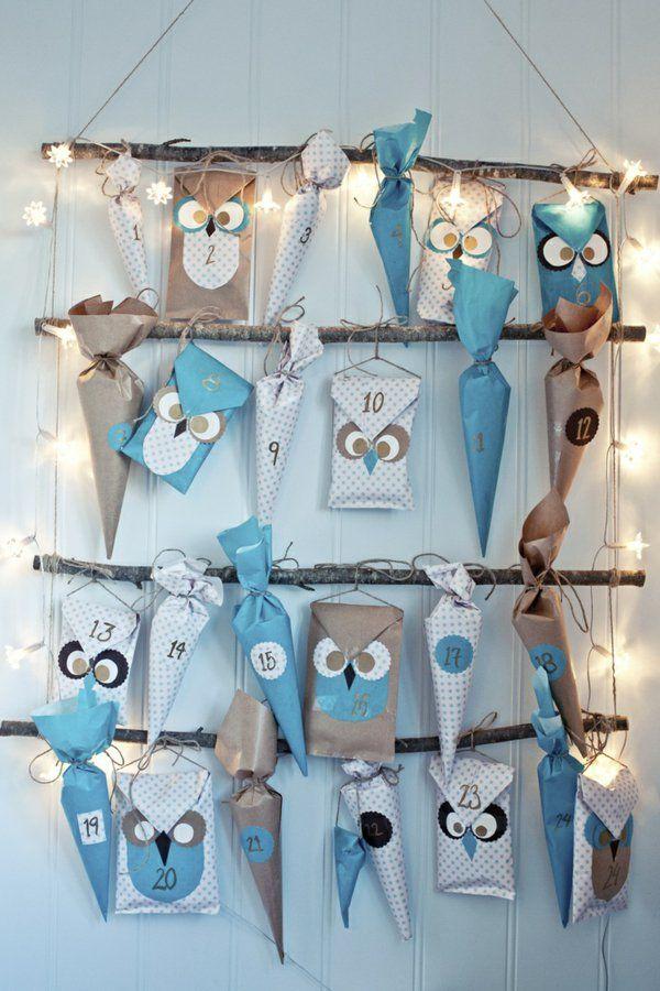 GroB Adventskalender Selbst Gestalten  Einfache Bastelideen Für Weihnachten