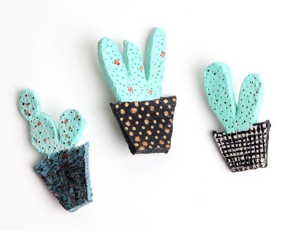 Cactus pin pins brooches pinterest bijoux et jardins Cactus porte bonheur