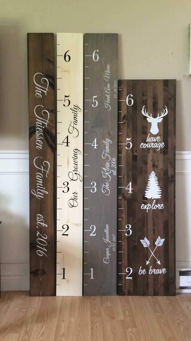In The Woods...kid's wood growth rulers and custom wood signs...facebook.com #woodsigns