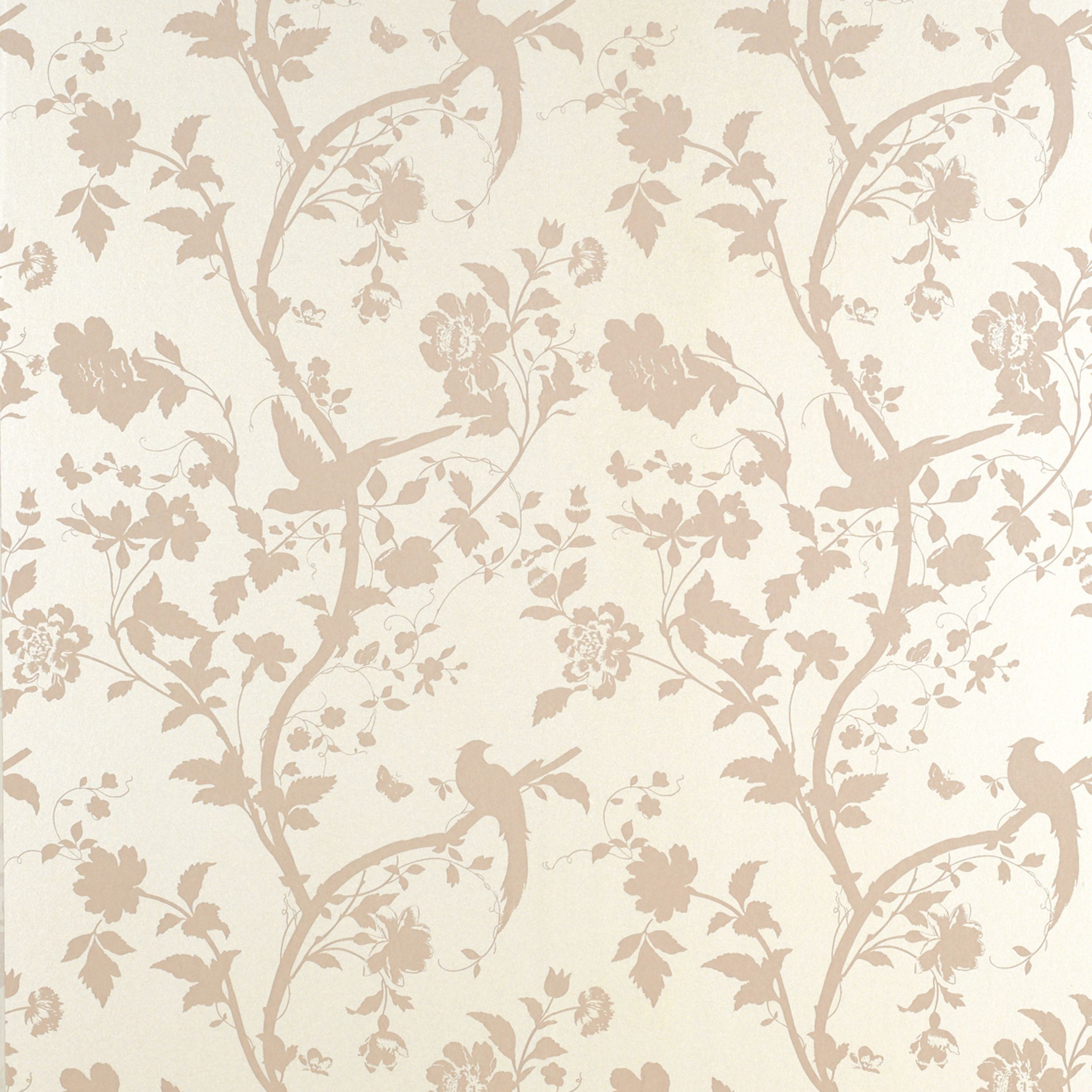 Pink Flower Wallpaper For Bedrooms Oriental Garden Chalk Pink Floral Wallpaper For The Home
