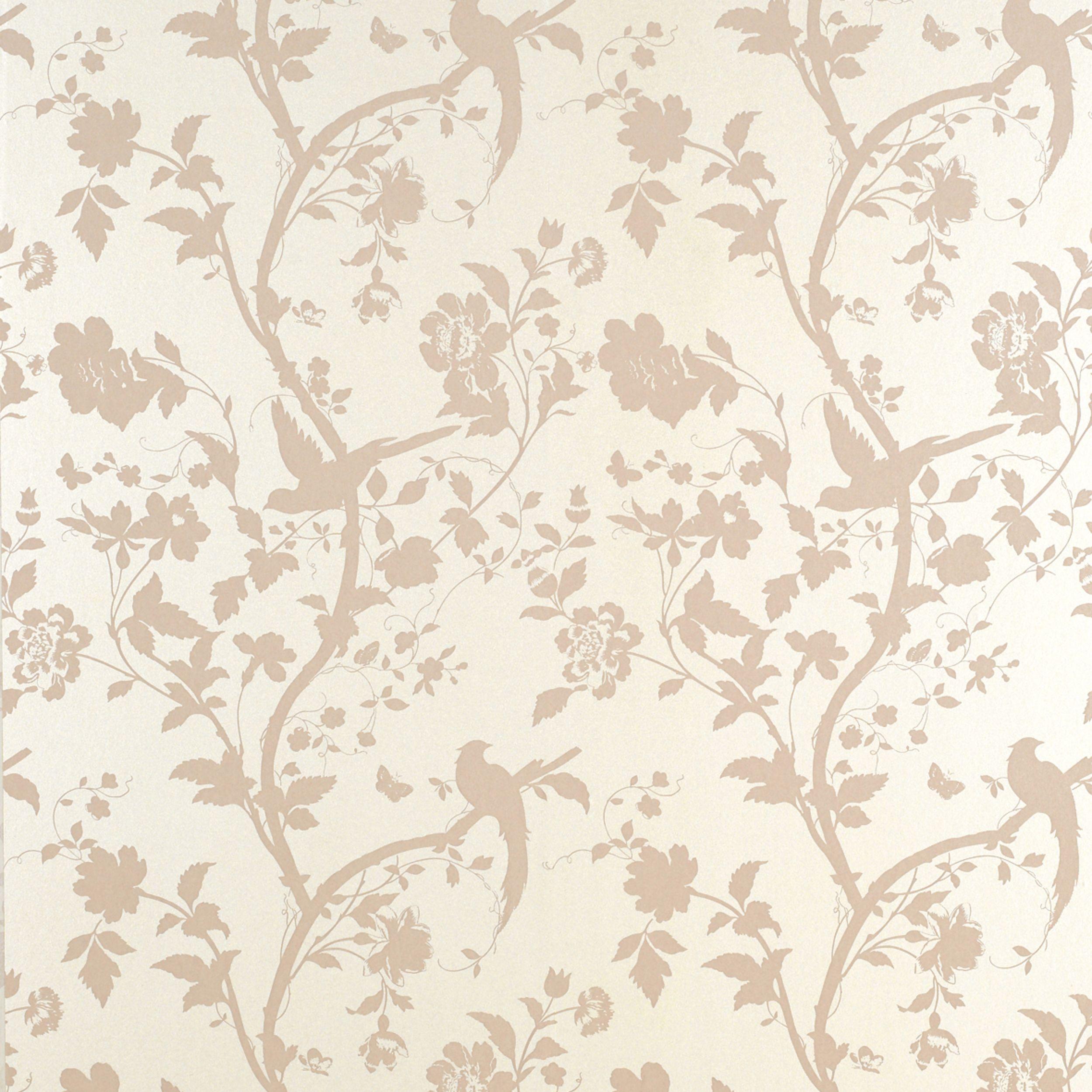 Oriental Garden Chalk Pink Floral Wallpaper Pink Floral