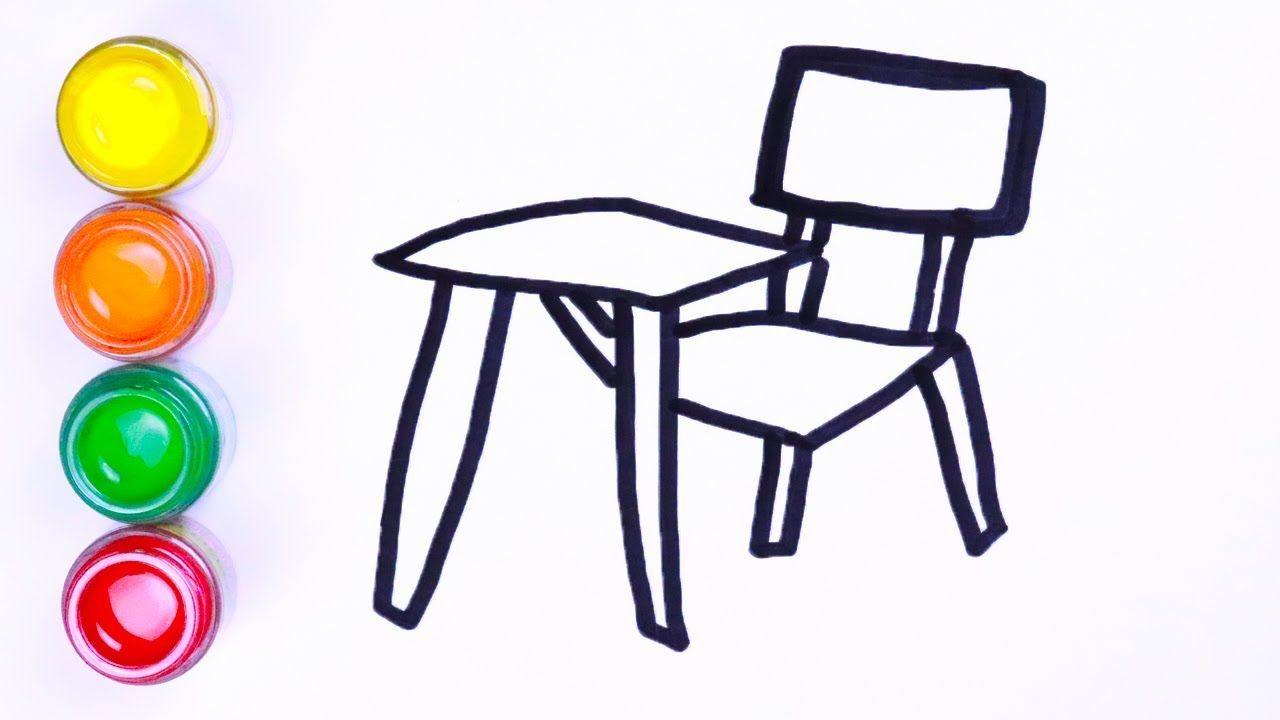 Menggambar Dan Mewarnai Kursi Meja
