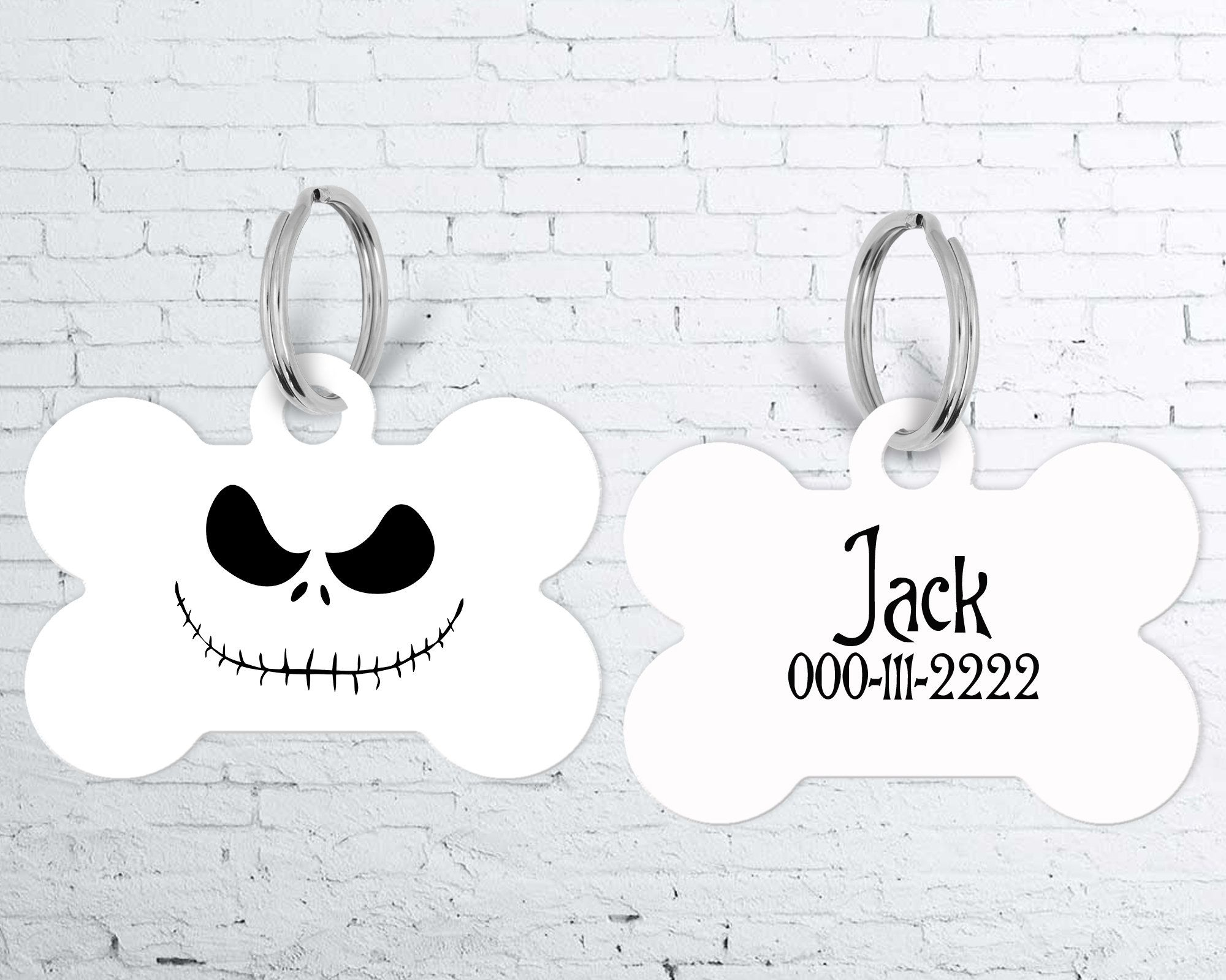 Nightmare Before Christmas Pet Tag , Personalized Dog Tag