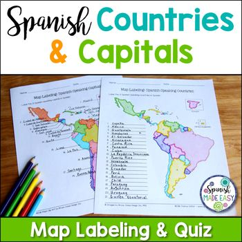 Spanish-Speaking Countries and Capitals Maps and Quiz | How ...