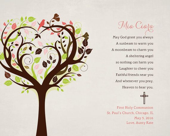 Personalized Baptism or First Communion Gift por WordsWorkPrints