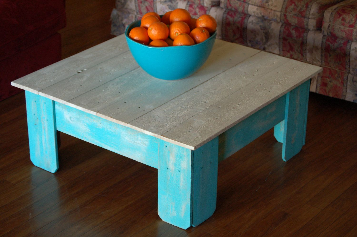 Large Coffee Table Farmhouse Table Square Table by