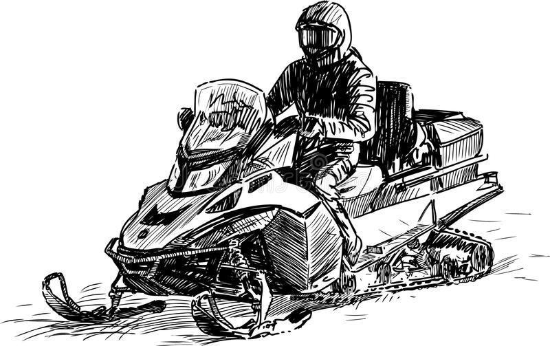 Snowmobile Vector Drawing Of A Man On A Snowmobile Ad Vector Snowmobile Drawing Snowmobile Man Ad Paintings I Love Vector Drawing Guy Drawing
