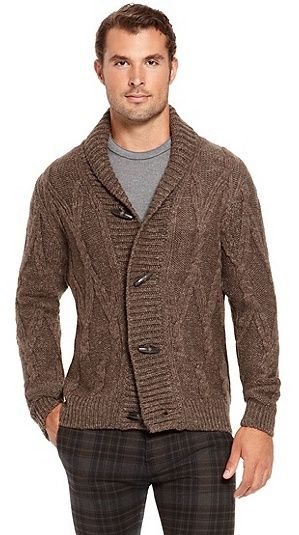 Shop HUGO BOSS Miron Virgin Wool-Linen Shawl Collar Cardigan in ...