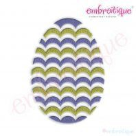 Fancy Easter Egg 32 Filled Embroidery Design by Embroitique