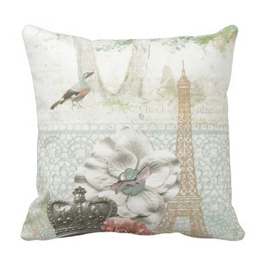 Paris a la Impressionism Pillow