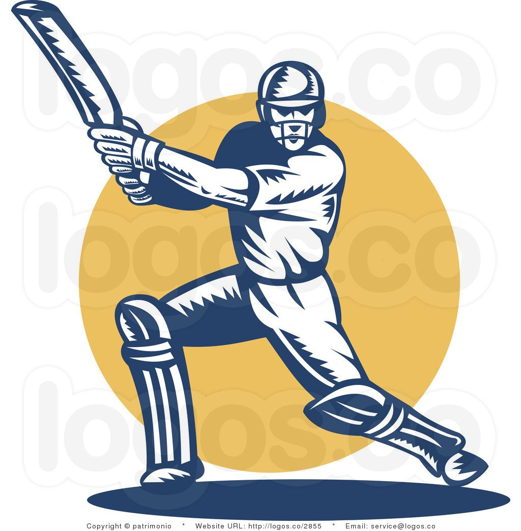 Cricket Bat Clip Art . Cricket, Cricket logo