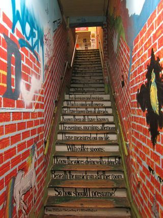 Up A Steep And Very Narrow Stairway To The Voice Like A Metronome