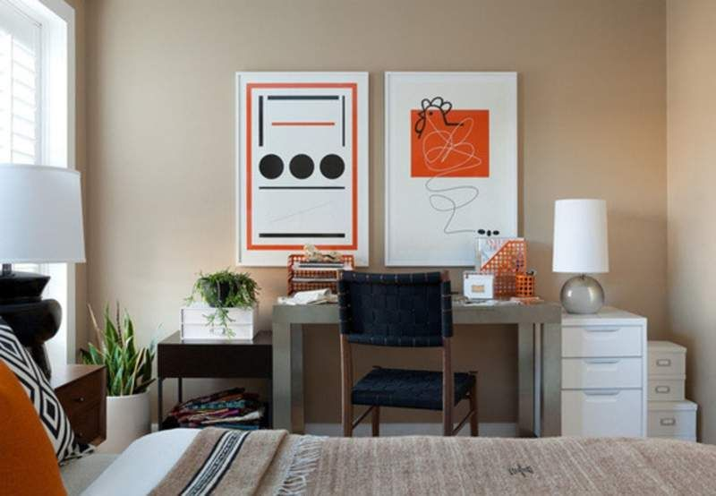 20+ Bedroom Office Combo Ideas and Inspiration for Narrow ...