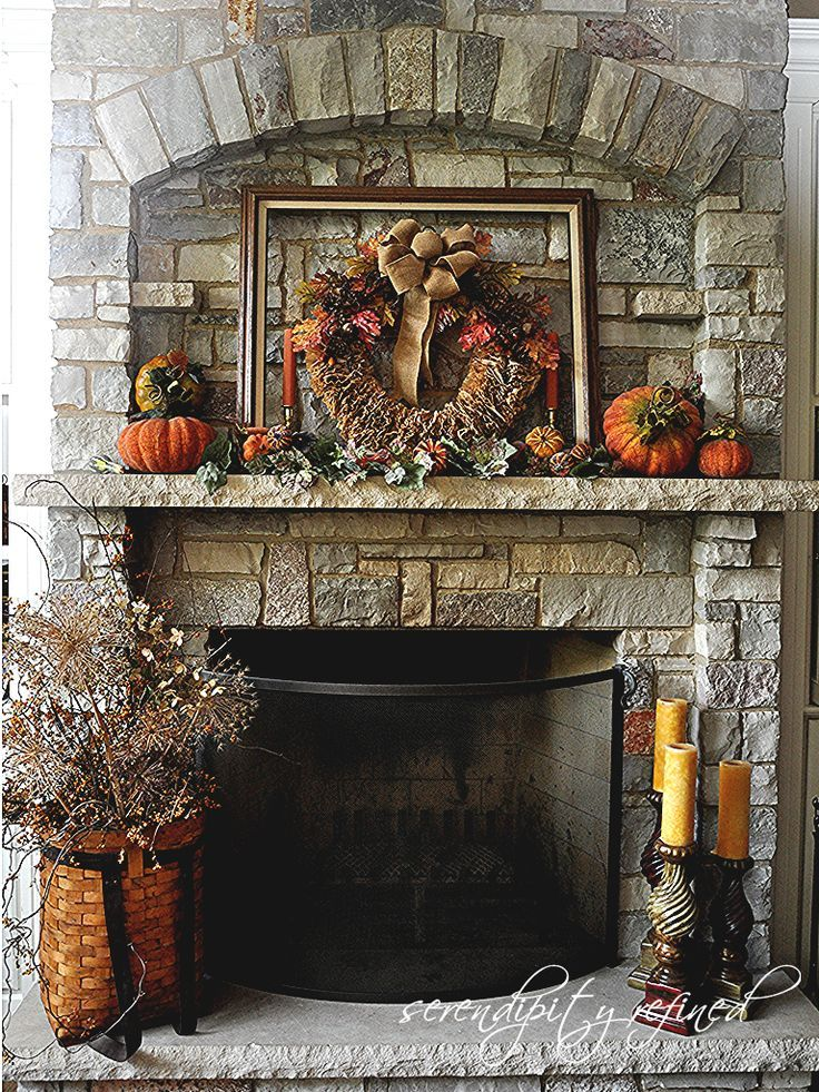 fireplace mantel decor ideas for decorating for thanksgiving - Decor For Mantels