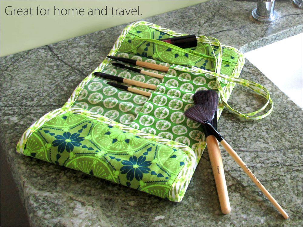 Roll Up Makeup Brush Bag (With images) Makeup brush bag