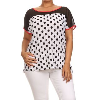 Shop for MOA Collection Women's Plus Size Polka Dot Print Top. Free Shipping on…