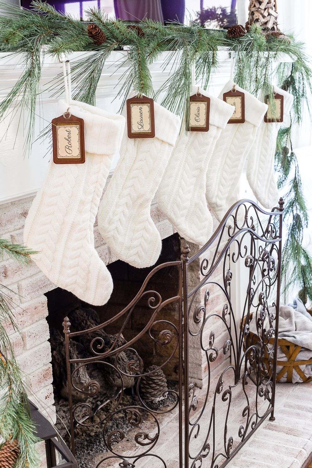 DIY Personalized Stocking Tags + Printable Labels | Christmas Ideas ...