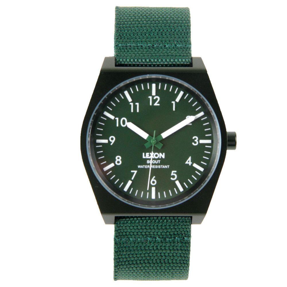 Lexon Unisex Scout Watch Green LM128V