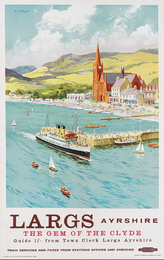 Vintage British Railways Redcar Poster A3//A2//A1 Print