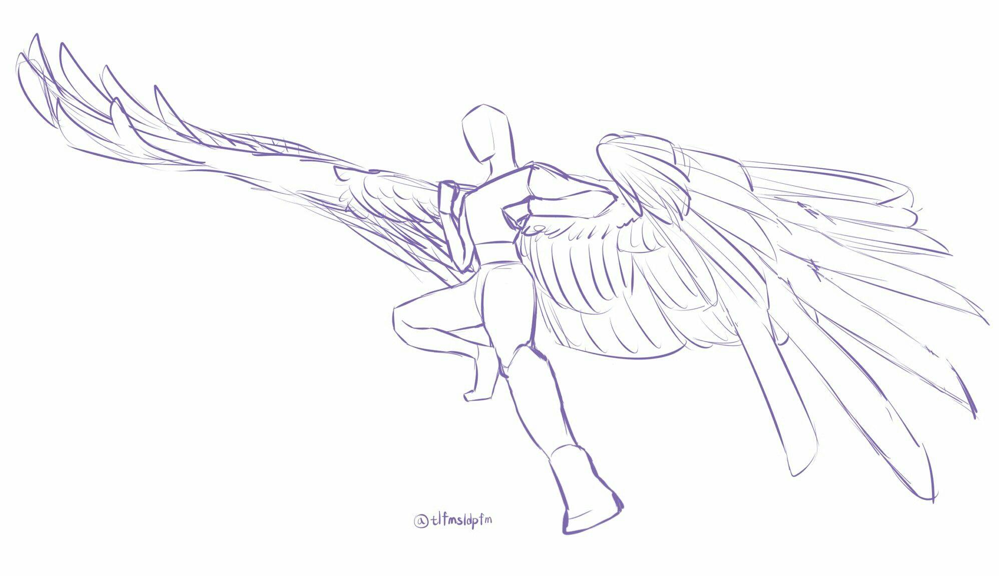 Tlfmsldpfm Wings Drawing Art Reference Drawings