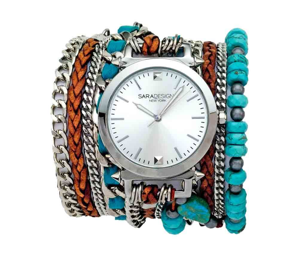 formafina.com.co - Información sobre Turquoise & Leather Wrap Watch