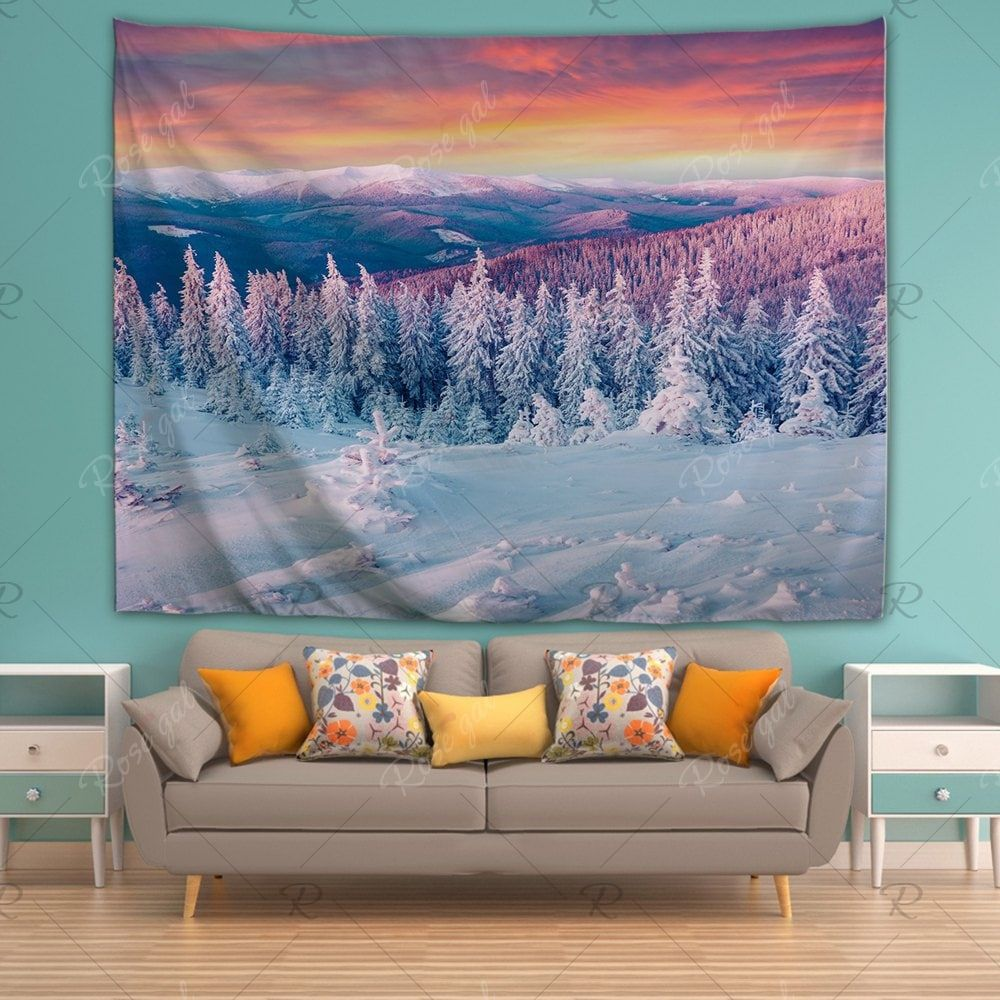 Snow 3d Printing Home Wall Hanging Tapestry For Decoration Wall Tapestry Living Room Tapestry Wall Art Dorm Room Tapestry