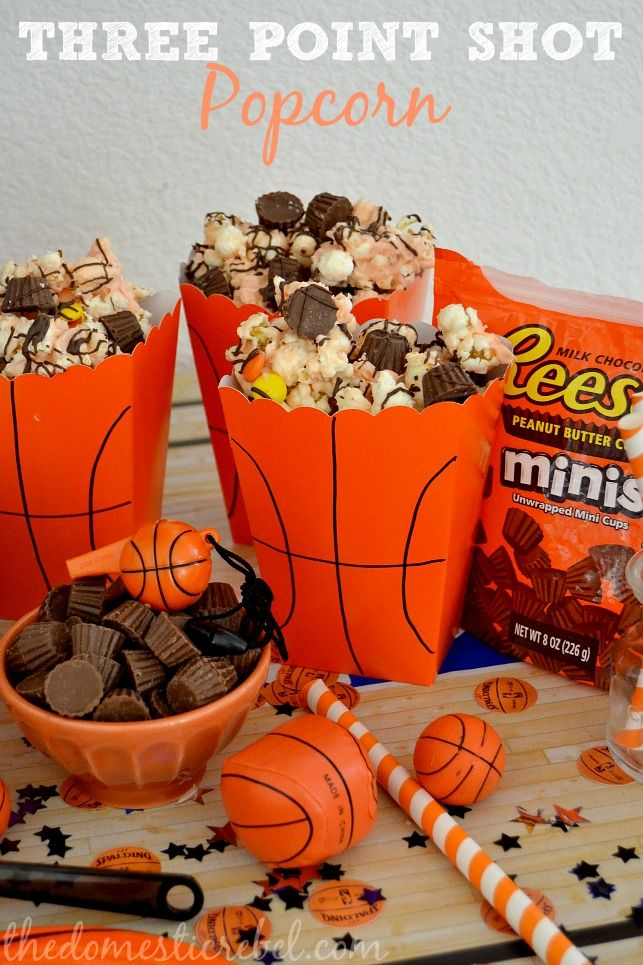 REESE'S Three Point Popcorn, Slam Dunk Coke Floats